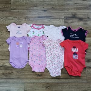 Other - FINAL MARKDOWN Lot Of 8 Baby Girl Bodysuits